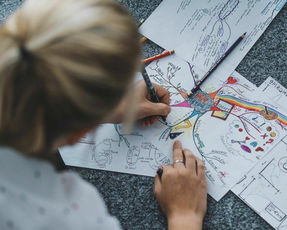návod jak tvořit myšlenkovou mapu