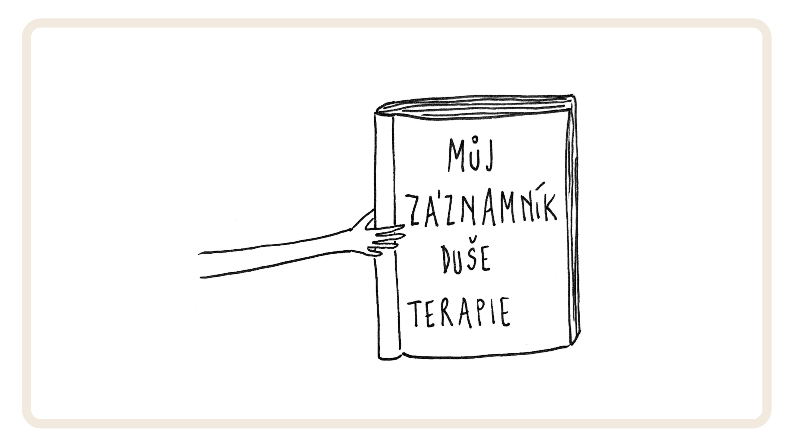 terapeutický deník v podobě myšlenkové mapy